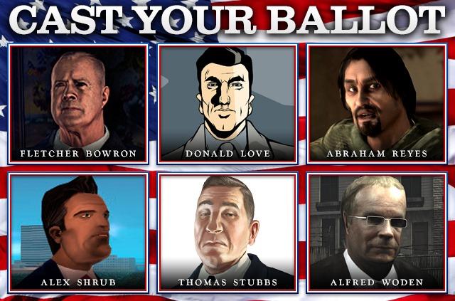 Ваш выбор: Политики из игр Rockstar Games