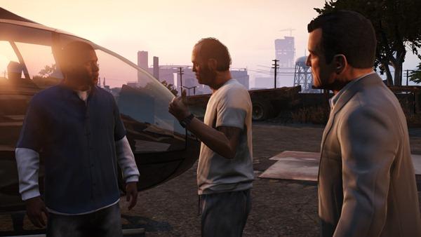 Пример переключения между персонажами в GTA 5