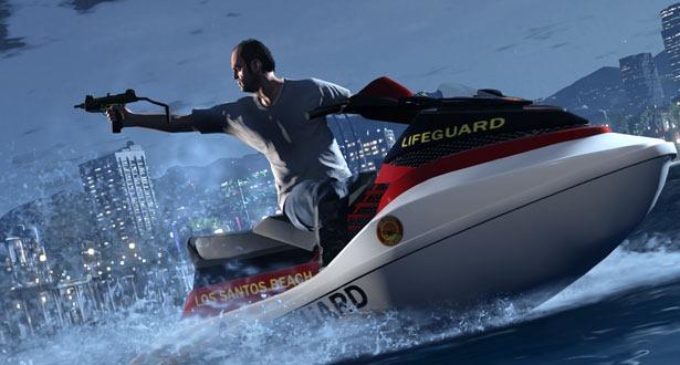 Новый скриншот Grand Theft Auto 5 на водном мотоцикле