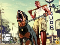Арт Grand Theft Auto 5: Франклин и Чоп