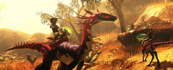 Первый онлайн-экшен с динозаврами