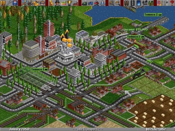 Игру Transport Tycoon 1994 года рождения, переделали и выпустили на смартфоны
