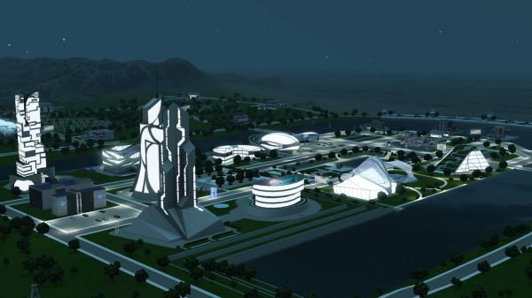 Дополнение Город Будущего для Симс Сити