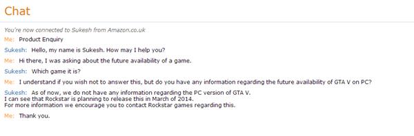 Amazon сообщает о дате анонса GTA 5