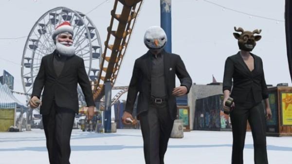 В онлайн версии Grand Theft Auto V пошел снег