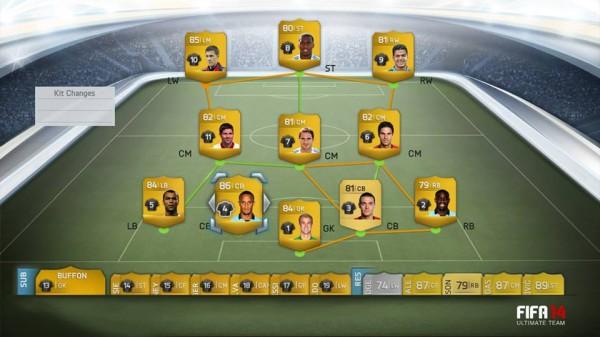 В FIFA 14 Ultimate Team можно собрать целую сборную по футболу