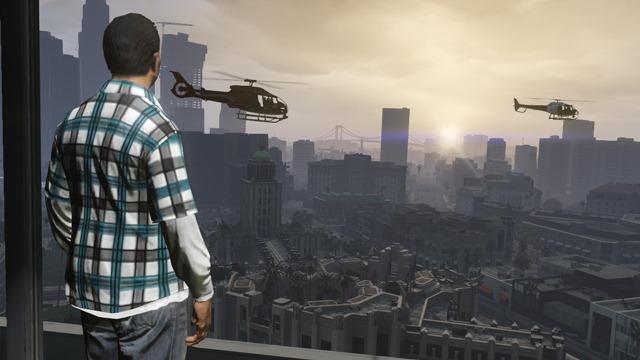 GTA Online (High Life) Вид из новой квартиры.