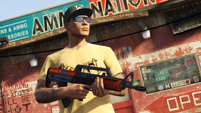 GTA Online (High Life) Новая винтовка Bullpup с прицелом, подавителем огня, окраской и другими модификациями.