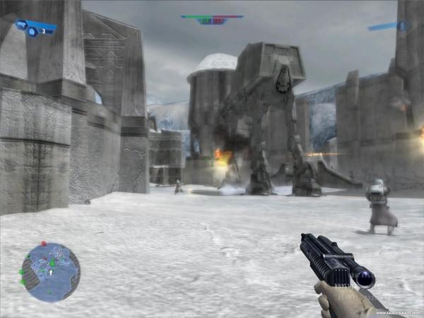 Действие игры Star Wars: Battlefront  проходит на планетах Хот и Эндор