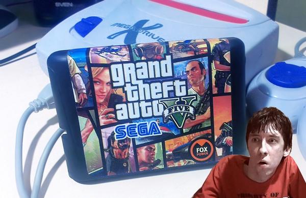 GTA 5 для приставки Sega Mega Drive