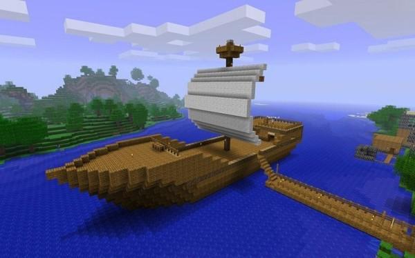 Как сделать в Майнкрафте корабль?