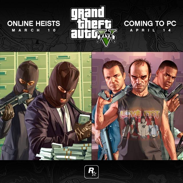 Дата выхода Ограблений для GTA Online и перенос ПК версии