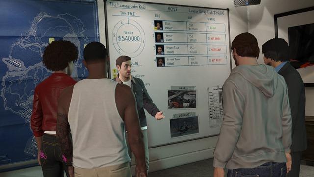 Планировочная доска в GTA Online