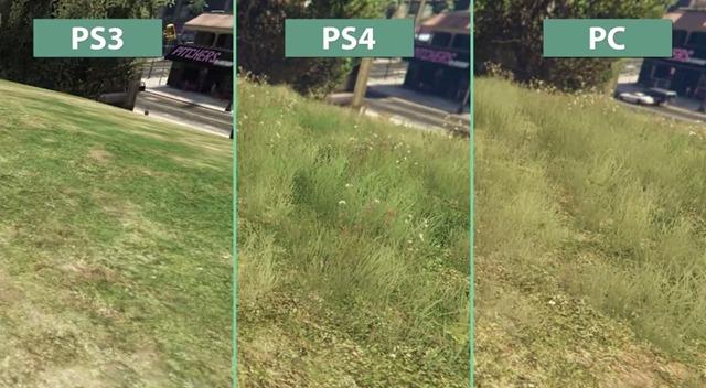 Видео сравнение GTA V на PC, PS 4 и PS 3